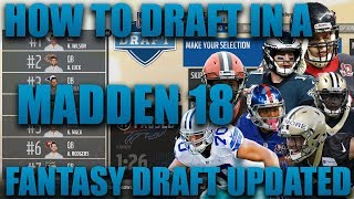 How To Draft In A Fantasy Draft Franchise Updated! Madden 18 Fantasy Draft Franchise Tutorial!