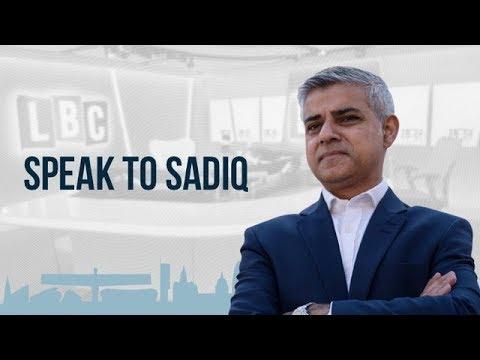 Mayor of London Sadiq Khan Live On LBC