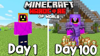 I Survived 100 Days In HARDCORE Minecraft...