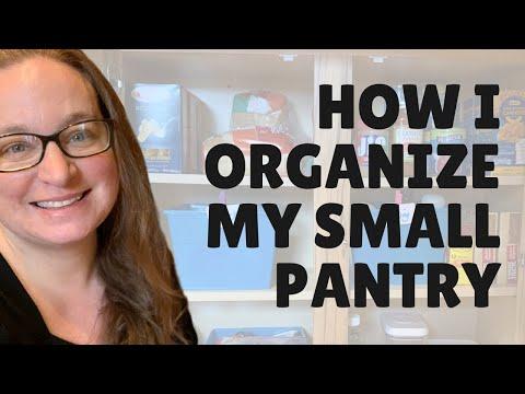 PANTRY ORGANIZATION - How I organize my small pantry
