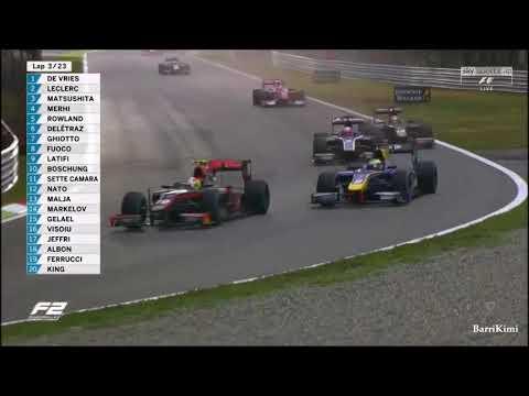 FIA Formula 2 Monza 2017 Race1 Start First 5 Laps