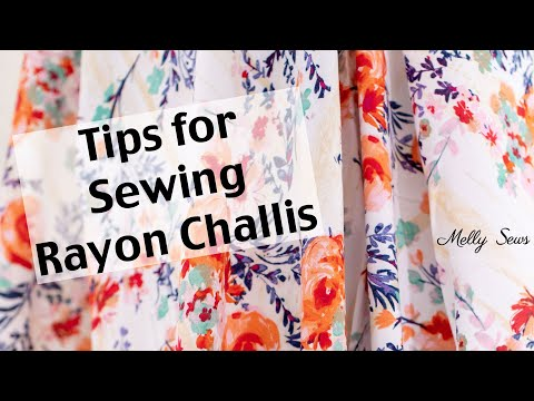 How to Sew Rayon Fabric - Tips and Tricks