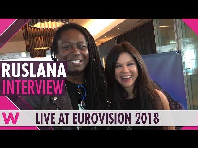 Ruslana (Ukraine 2004) interview @ Eurovision 2018   wiwibloggs