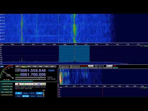 1700 kHz USA TX. KKLF Banda 13 Radio. Richardson 5/1kW. 8660km 11.01.2018 6:30UTC