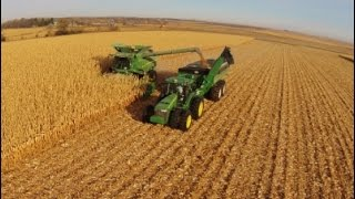 2014 North Dakota Corn Harvest Aerial Video (long version)