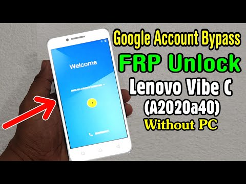 LENOVO Vibe C a2020a40 FRP Unlock or Bypass Google Account Without PC Easy  Tricks