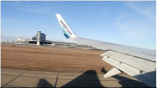 WestJet Boeing 737-700 Onboard Landing at Edmonton International Airport