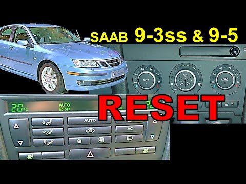 Saab 9-3 Climate Control RESET | How and why | easy DIY
