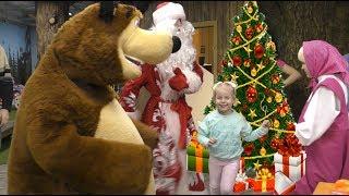 ДИАНА в гостях у Маша и Медведь самые интересные Новогодние каникулы Видео для детей