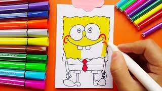 Learning How To Draw SPONGEBOB Cartoon