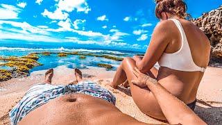 Бали без людей Нудистский пляж мечты Рыбалка на серфинге