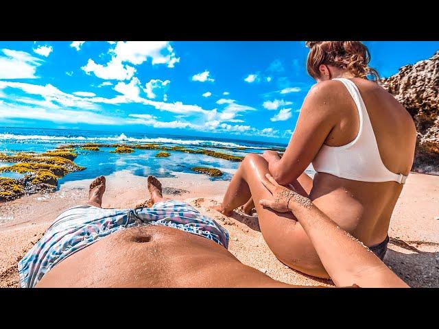 Бали без людей. Нудистский пляж мечты. Рыбалка на серфинге