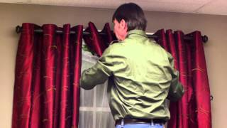 How to Layer a Curtain With a Sheer Curtain : Curtains & Window Decor