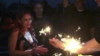 Bianca Beauchamp birthday suprise at Vampirella Photoshoot