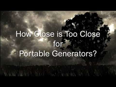 How Close is Too Close for Portable Generators?
