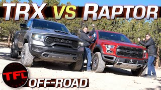 It's On! Ram TRX vs Ford F-150 Raptor In SURPRISING Off-Road Showdown With Special Guest Star Truck!