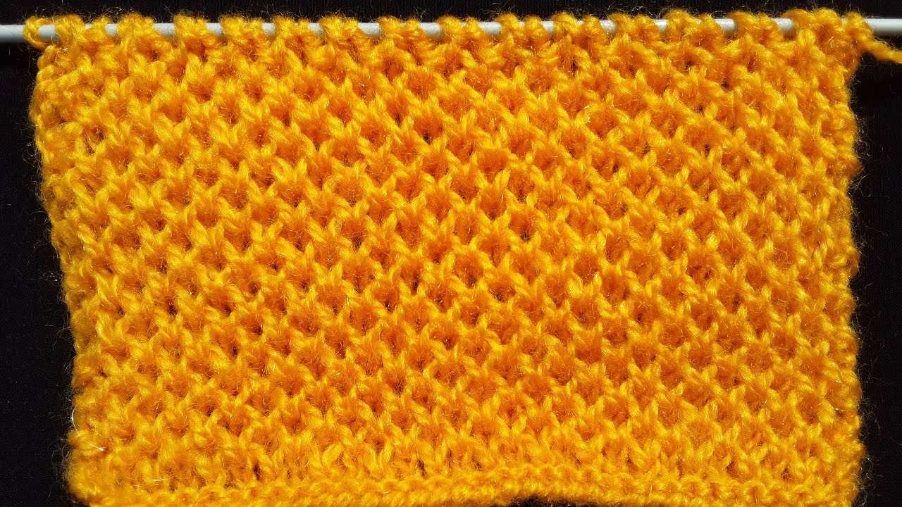Honeycomb Stitch - Knitting Pattern | HINDI - YouTube