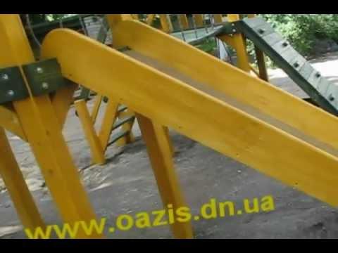 Cмотреть видео онлайн Детская Сказка - игровые площадки деревянные.СУПЕР