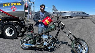I PUT Jet Fuel in my Orange County Chopper Motorcycle