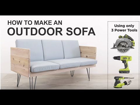 DIY: Build a Modern Outdoor Sofa using only Three Power Tools! By Ben Uyeda  of HomeMade Modern!