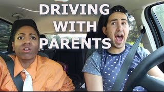 DRIVING WITH PARENTS | DanAndRiya