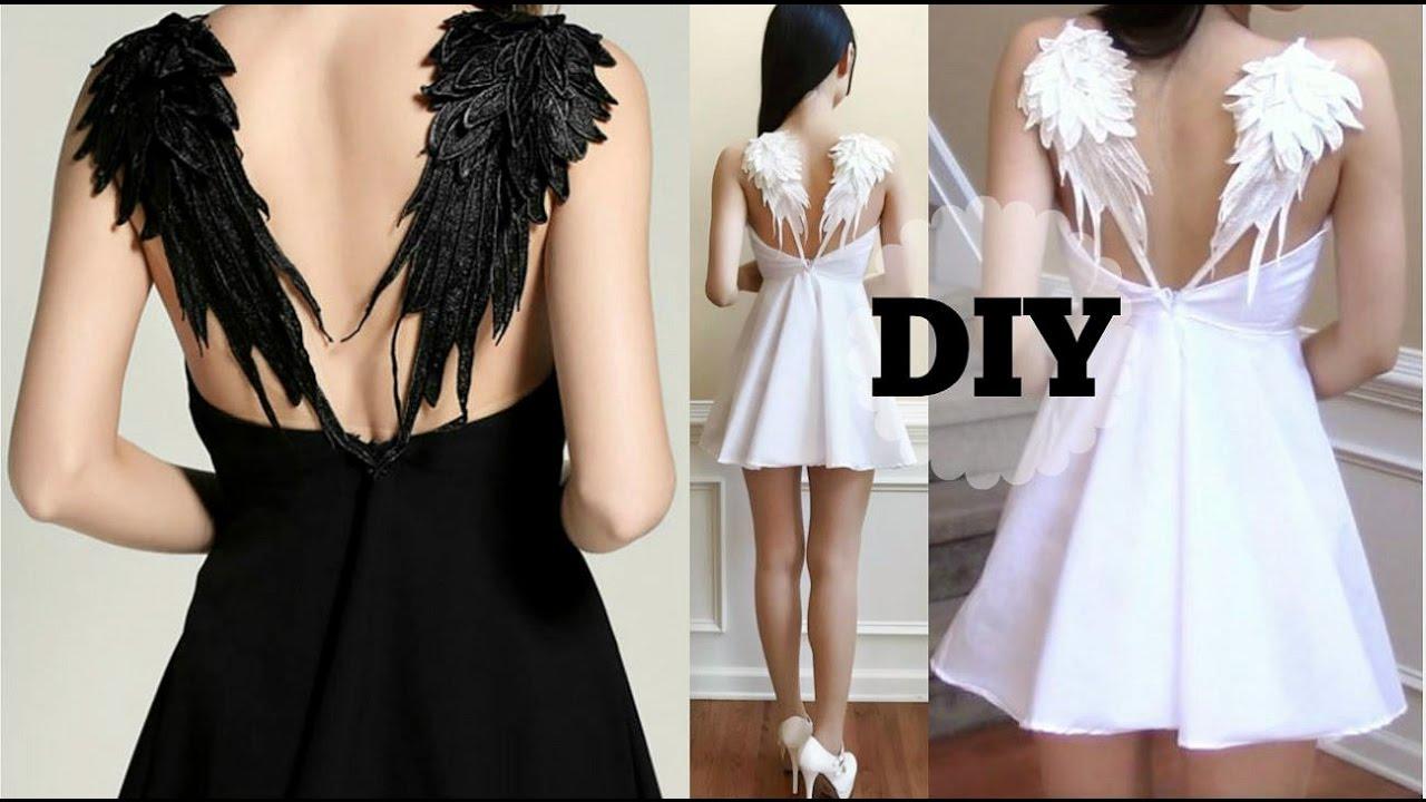 diy gothic angel wing dress pattern recreating fashion diy youtube