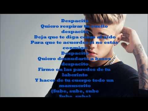 Luis Fonsi Daddy Yankee   Despacito letra official ft  Justin Bieber   lyrics official