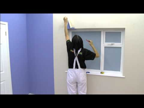 How To Wallpaper Around A Window | Wallpapering Tips | Homebase - YouTube