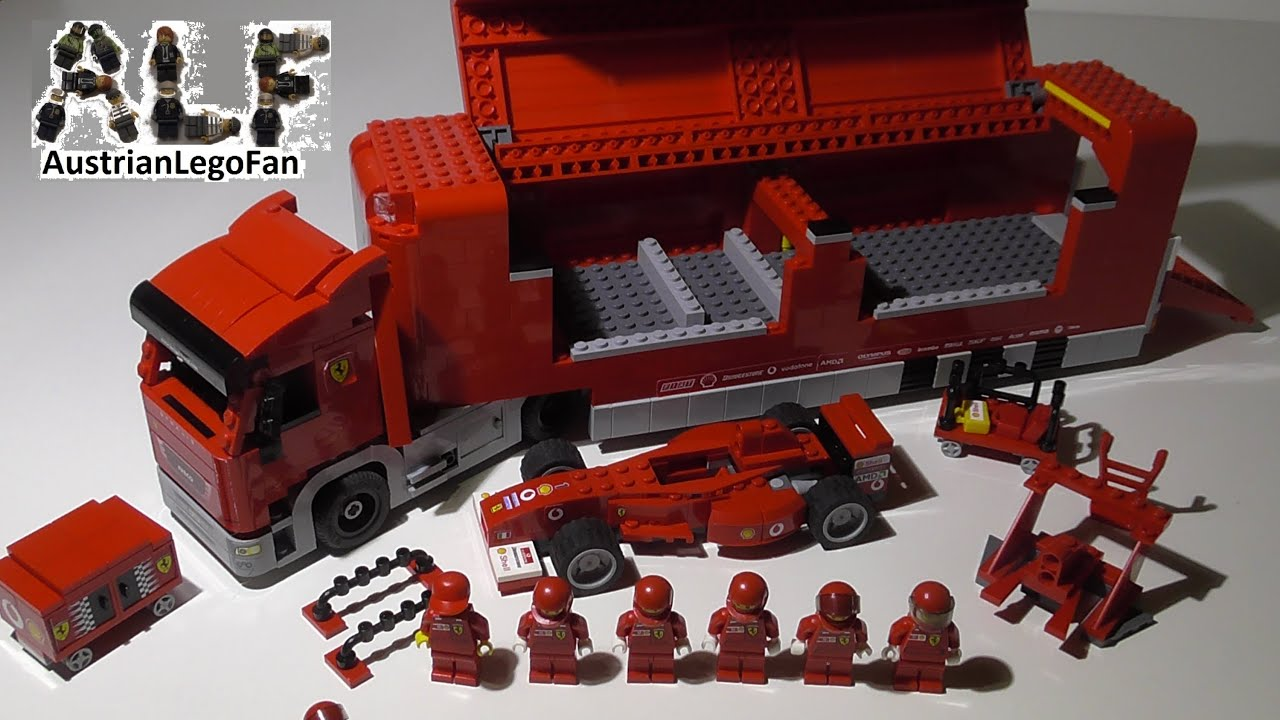 lego racers 8654 scuderia ferrari truck lego speed build. Black Bedroom Furniture Sets. Home Design Ideas