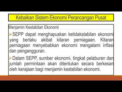 Bab 1 3 2 Sistem Ekonomi Perancangan Pusat Sosialis Youtube