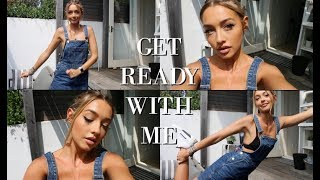 GET READY WITH ME | Hair, Makeup, Outfit