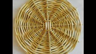 Донышко 3х3 - weaving the bottom - плетение из лозы(Мастерская Лилии Улановой - подробные мастер-классы создания красивых, оригинальных и качественных моделе..., 2014-11-16T15:39:36.000Z)