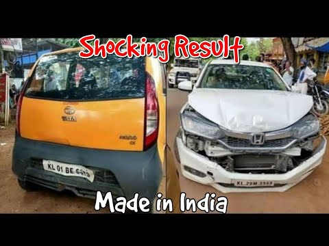Honda City, Tata Nano & Honda City car Accident Shocking Result
