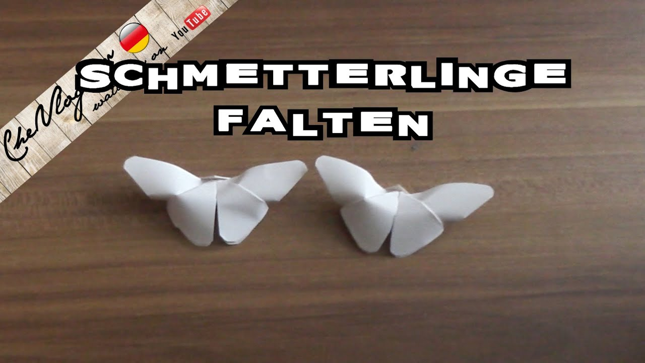 schmetterling falten origami schmetterling falten mit papier bastelideen basteltipps youtube. Black Bedroom Furniture Sets. Home Design Ideas