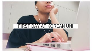 FIRST DAY AT A KOREAN UNIVERSITY 📚 // Korea Abroad