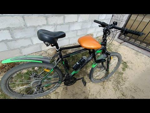 Удобное самодельное детское велокресло