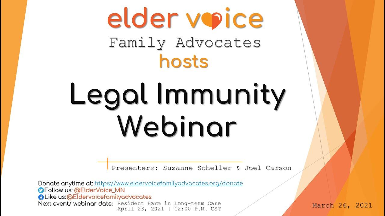 Watch Our Recent Webinar on Legal Immunity