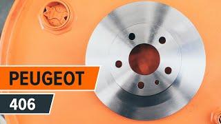 Hvordan bytte bak bremseskiver og bremseklosser på PEUGEOT 406 BRUKSANVISNING | AUTODOC
