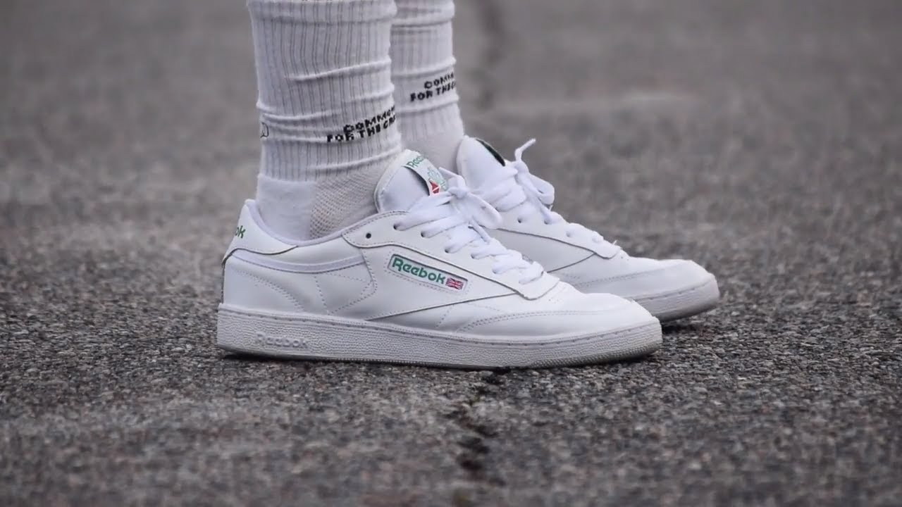 b663b9b1efc277 REEBOK CLUB C 85 (White  Green) REVIEW + ON FEET - YouTube