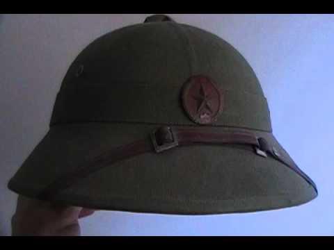Vietnam War NVA Pith combat helmet Charlie
