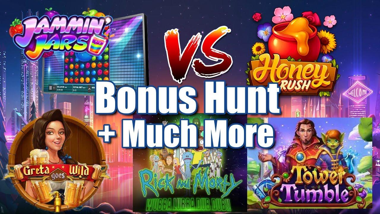 Jammin Jars vs Honey Rush + Low Stake Bonus Hunts & Compilation + Community BIG WINS!!