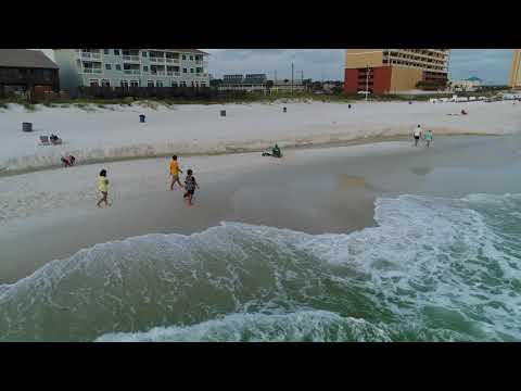 Panama City Beach Drone shots on the beach 5