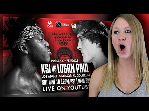 KSI VS. LOGAN PAUL PRESS CONFERENCE   My Reaction