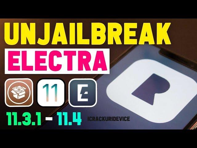 Jailbreak iOS 11.3.1 - 11.4: unJailbreak to Delete, Remove, Uninstall Cydia & Tweaks (No Restore/PC)