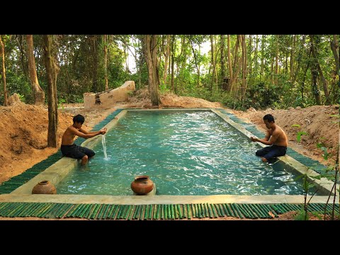 How To Build Secret Swimming Pool  In Forest