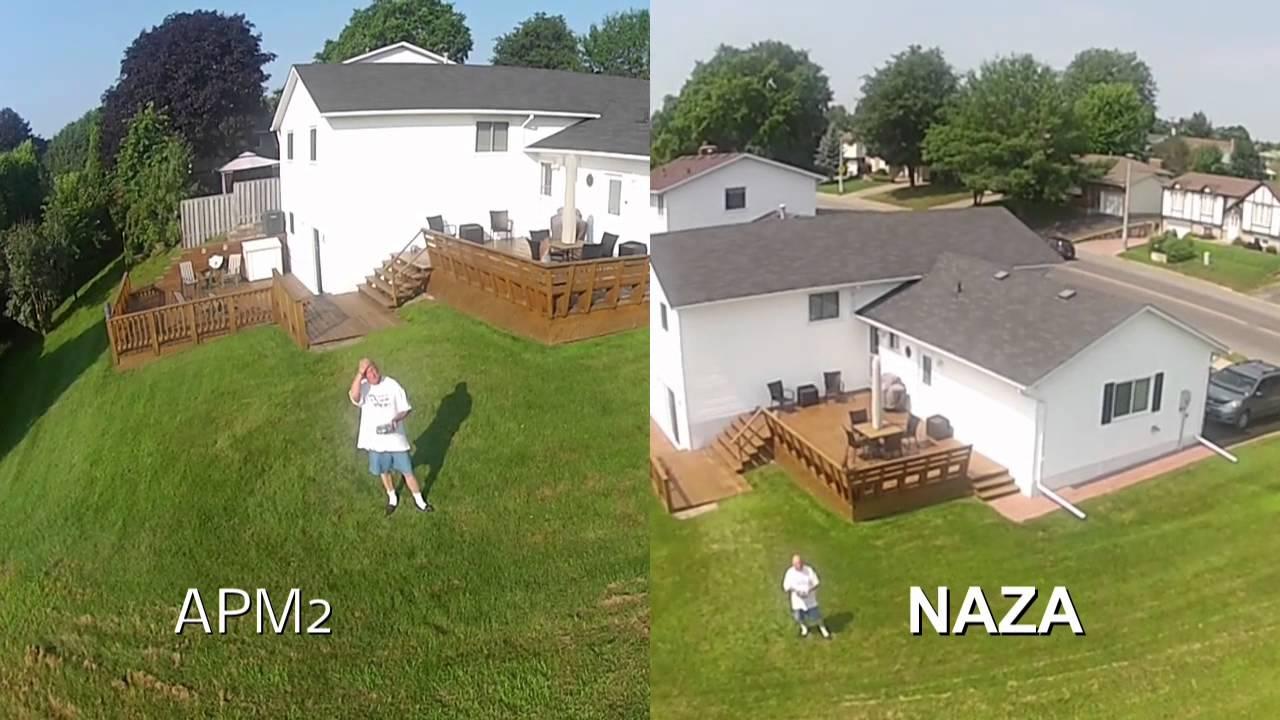 APM2 versus NAZA loiter