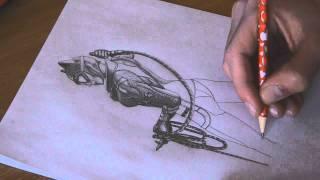 Catwoman (Batman Arkham City) speed drawing