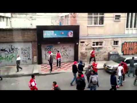 Citytv.com.co: Fuerte enfrentamiento entre hinchas de Millonarios y Santa Fe