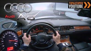 Audi A8 D3 4.0TDI quattro (202kW)   4K Drive POV - V8 Sound, Acceleration & TOP Speed...