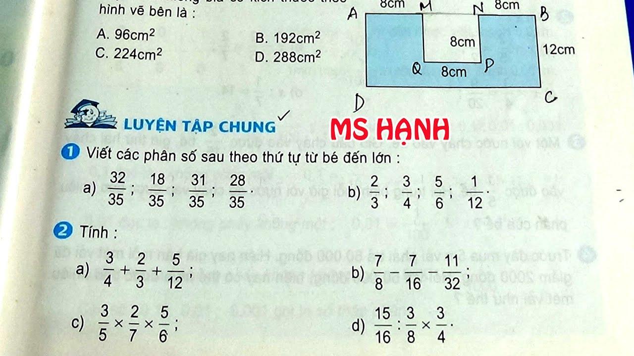 [ Toán Lớp 5 ] Trang 31+32 Sách Giáo Khoa – Luyện Tập Chung #mshanh